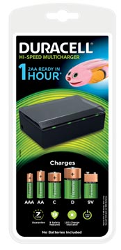 Duracell batterijlader Hi-Speed Multicharger, op blister