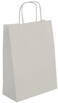 Apli witte kraft draagtassen, 50 stuks