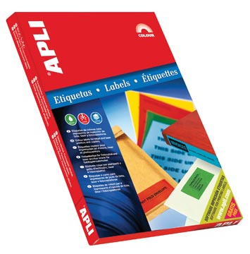 Apli Gekleurde etiketten ft 70 x 37 mm (b x h), rood, 2.400 stuks, 24 per blad