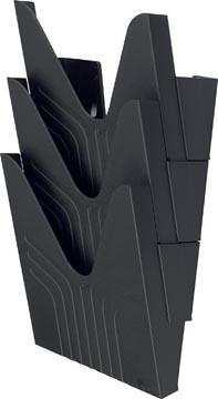 Avery wandfolderhouder, voor ft A4, zwart, set van 3 stuks