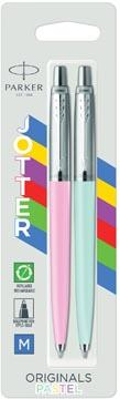 Parker Jotter Originals Pastel balpen, blister met 2 stuks, blauw/roze