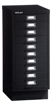 Bisley ladekast, ft 67 x 27,9 x 40,8 (h x b x d), 10 laden, zwart