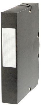Pergamy elastobox, rug van 6 cm, zwart