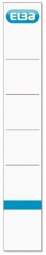 Elba rugetiketten, ft 19x3,4 cm, wit 10 st