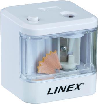 Linex elektrische potloodslijper wit