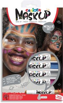 Carioca maquillagestiften Mask Up Metallic, doos met 6 stiften