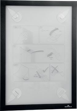 Durable Duraframe Wallpaper zelfklevend kader formaat A4, zwart
