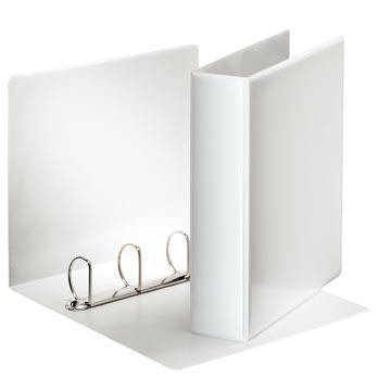 Esselte personaliseerbare ringmap, rug van 7,7 cm, 4 D-ringen van 50 mm, wit