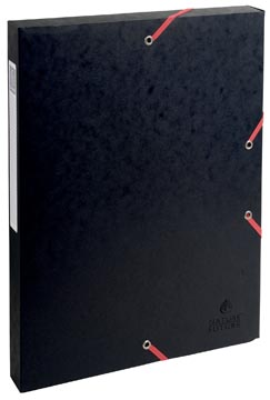 Exacompta elastobox Exabox zwart, rug van 2,5 cm