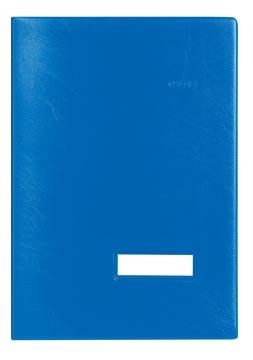 Class'ex handtekenmap, plastic omslag, blauw