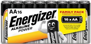 Energizer batterijen Alkaline Power AA, blister van 16 stuks