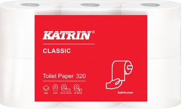 Katrin toiletpapier Classic, 2-laags, 200 vel per rol, pak van 6 rollen