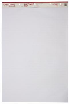 Pergamy flipchartpapier, ft 65 x 98 cm, geruit en blanco, pak met 50 blad