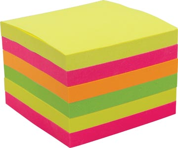 Pergamy z-notes accordeon, ft 76 x 76 mm, geassorteerde kleuren, pak van 6 blokken