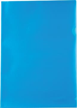 Pergamy L-map, ft A4, PP van 120 micron, pak van 25 stuks, blauw