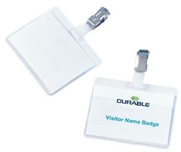 Durable badge met clip