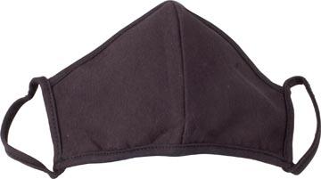 Wasbaar mondmasker, uni zwart motief, maat: universeel, pak van 3 stuks