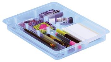 Really Useful Box, office divider met 8 vakjes voor 4 liter of 9 liter, transparant