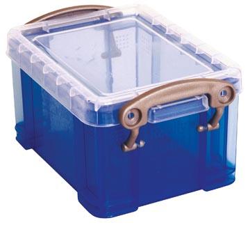 Really Useful Box visitekaarthouder 0,3 liter, transparant blauw
